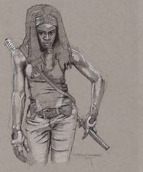 Michonne - The Walking Dead by Svendsgaard