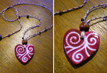 Vintage Heart Necklace by mayan-art