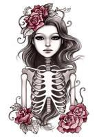 Skeleton Girl by mayan-art