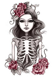 Skeleton Girl by mayan-art