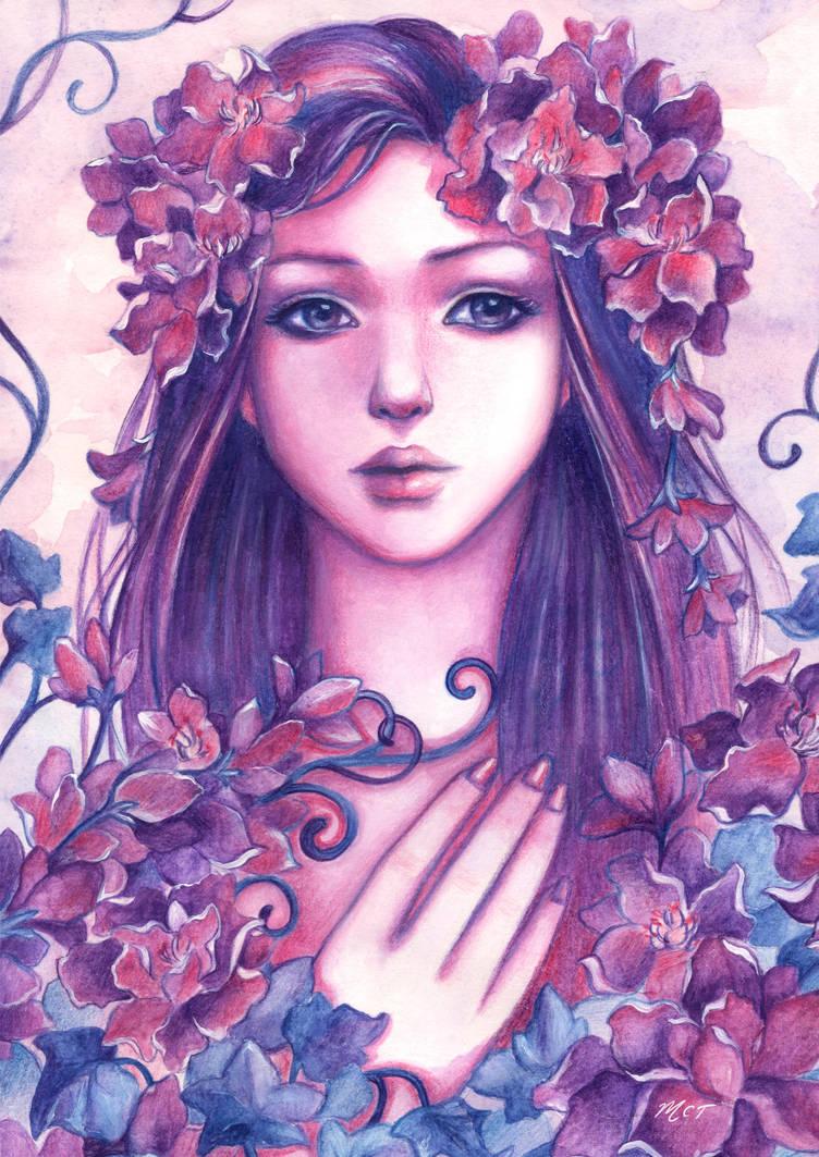 Summer Flower Fairy by mayan-art