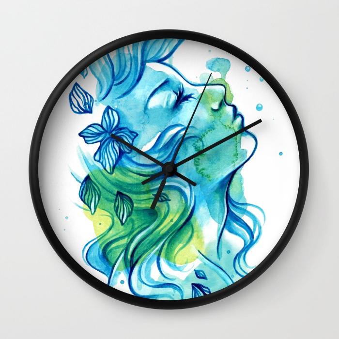 Water-maid-wall-clocks by mayan-art