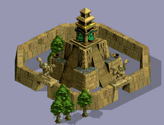 updated aztec temple from 1999 by NickRLee