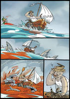 The old Bear and the sea p.3 by sledziu