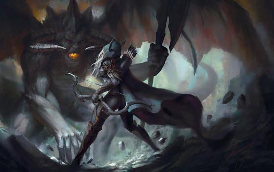 Sylvanas vs Lord of Terror by Lensar