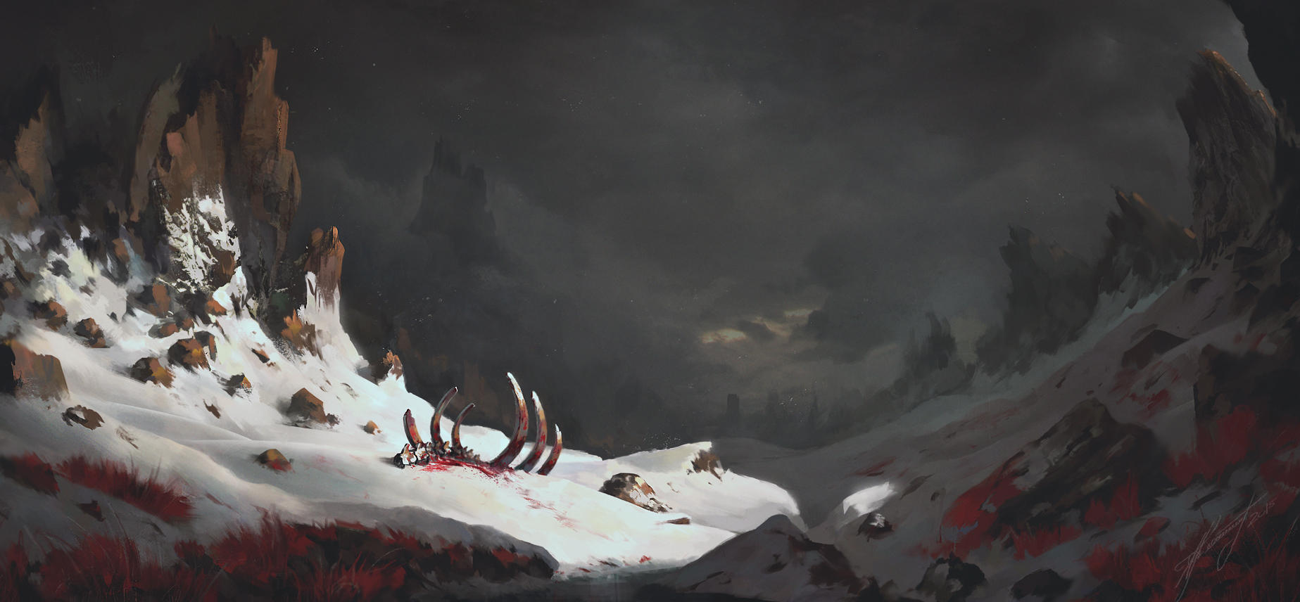 crimson snow by Lensar