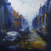 The Dark Alley by aslantoilpaintings