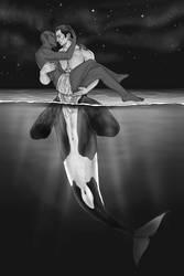Inktober 2018, Day 12: Whale by sno4wy