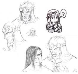 Darksiders Sketchdump by Buurenaar
