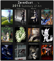 2015 Summary of Art by Zeven-Dust