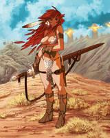 Toshinho Red Sonja by figue-art