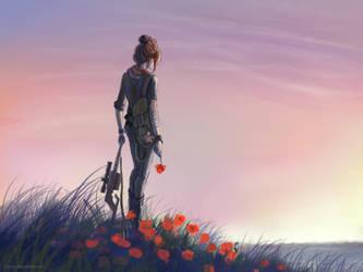 Red poppy by CriAnn