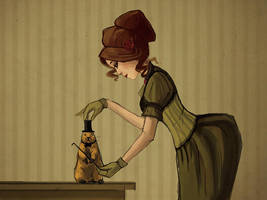 Lady with prairie dog by CriAnn