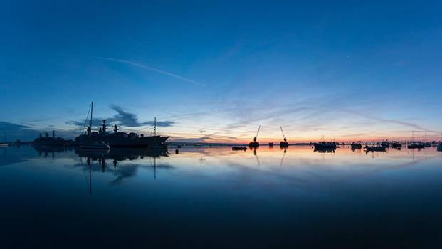 Sunrise Over Sea by mrk