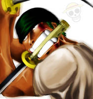 Zoro is Angry Too - One Piece by Gandaresh