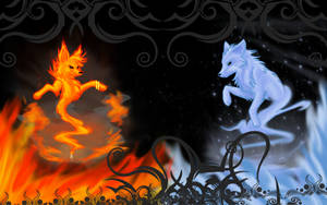 Fire and Ice :: Wallpaper by twistedCaliber