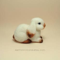 Needle felted bunny miniature by BethMiniWorld