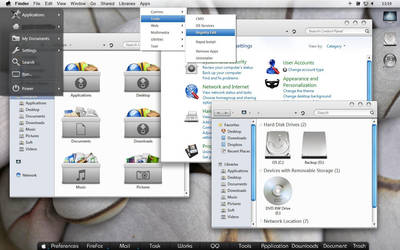 Mac alike desktop by Sosat