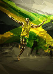 Usain Bolt by eigenI