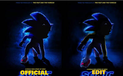 Edit of the Sonic Movie Poster by EmeraldThunderComics