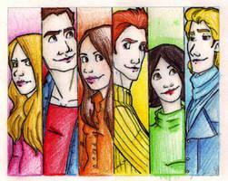 the cullen siblings + bella by katiebroke