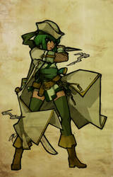 Azalea's Pirate-Ninja by Paperfiasco