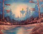 BOB ROSS VS THE IRON GIANT by WILLEYWORKS