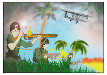 Landing on the Island by tokugawamusashi