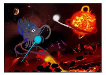 Space Demon by tokugawamusashi