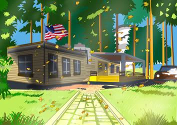 Somewhere in America by tokugawamusashi