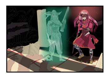 Illustration : The warrior and the ghost by tokugawamusashi