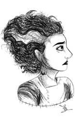Bride of Frankenstein (redraw)  by GeekyDragon5