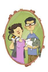 family portrait by plavalaguna