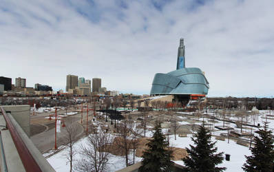 Downtown Winnipeg 3 Picture Panorama by Joe-Lynn-Design