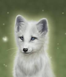Arctic Fox : Version 2 : Glowy by ArtisticFox
