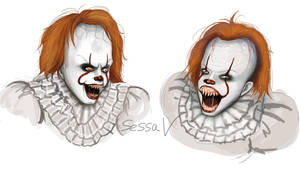 Pennywise Sketches 3 by SessaV