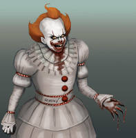 Ugly Sketch of Pennywise by SessaV
