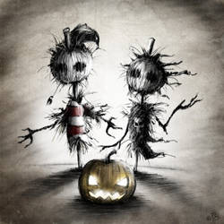 the scarecrows  by Strieptokokken