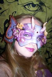 Amethyst Fairy Mask on Me by EnchantedMasquerade