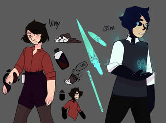 Viny And Blue Final Designs by diamondpup