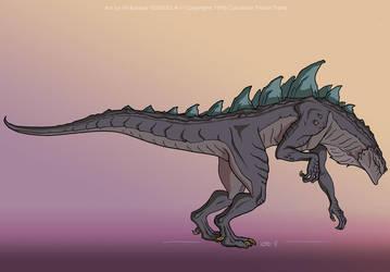 Godzilla: Side View by filbarlow