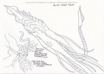 Godzilla Ep102: Giant Squid by filbarlow