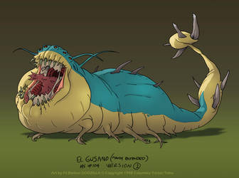 Godzilla: Ep104 El Gusano: Model 01 by filbarlow