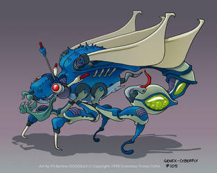 Godzilla Ep105: Cyberfly by filbarlow