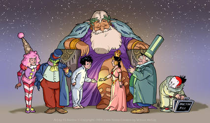 1989 Little Nemo: Character line up by filbarlow
