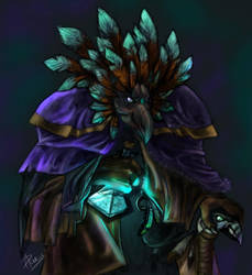Arakkoa Alchemist by RogueLiger