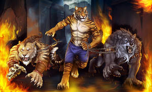 YCH Collab commission -Through the Fire- by RogueLiger