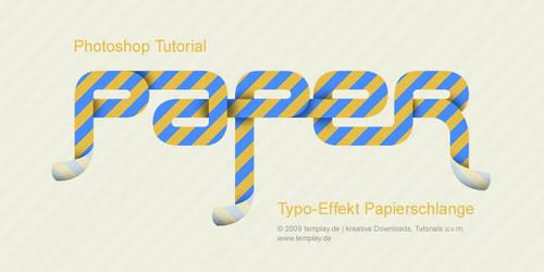 Typo Effekt Papierschlange by templay-team