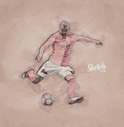 Sketch FX - Photo Effect for Photoshop - soccer by templay-team