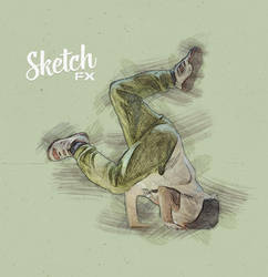 Sketch FX - Photo Effect for Photoshop - dancer by templay-team